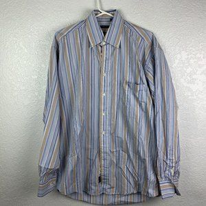 Burberry London Med Button Down Striped Shirt L/S